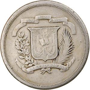 [#799660] Coin, Dominican Republic, 1/2 Peso, 1979, VF, Copper-nickel, KM:52
