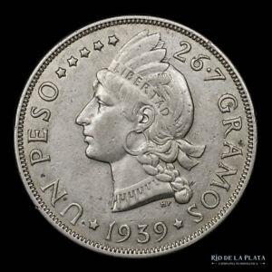 .: Rep. Dominicana 1 Peso 1939 - Very Scarce :.
