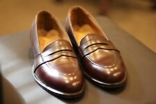 Alden 683 Burgundy Calfskin Leather Penny Loafers Shoes Made in USA New Size 9 B