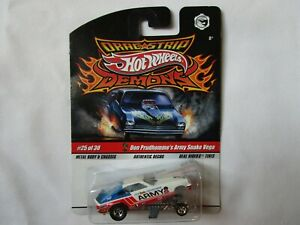 Hot Wheels Drag Strip Demons Don SNAKE Prudhomme ARMY Vega Funny Car Top Fuel NW