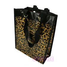 New Fashion Reusable Waterproof Leopard Tote Shopping Beach Storage Bags Eco Bag