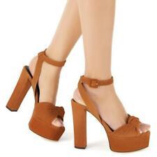 Women Super High Heel Platform Buckle Strap Peep Toe Slingbacks Sandals 44/46 L
