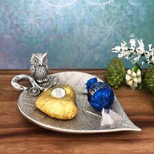 Owl on Leaf Trinket Dish for Tea Lights, Wedding Rings, Jewellery