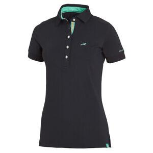 Schockemohle Marlena Polo-Shirt in Dark Blue (Navy) X-Small