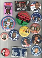 27 Old CIVIL RIGHTS pin AFRICAN Black AMERICAN POLITICIAN Obama MICHELLE etc
