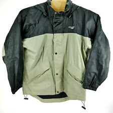 Mens Stearns Dry Wet Wear Jacket OLIVE Green and BLACK Size Medium light weight