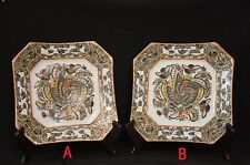 Antique Chinese Famille Rose Porcelain Plates