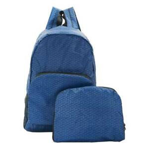 Blue Disrupted Cube Print Backpack By Eco Chic Folding