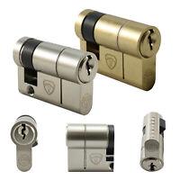55 (45/10) Anti Snap Half Euro Cylinder Security Door Lock Barrel✔