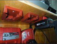 **2 Pack** M18 Battery Holder Wall Mount For Milwaukee 18V