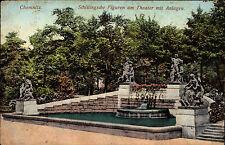 Chemnitz Sachsen Feldpostkarte 1915 1. Weltkrieg Schillingsche Figuren Theater