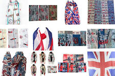 10 London UK British Souvenir Unisex Scarf Maxi Wrap Shawl Sarong Gift Set