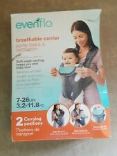 Evenflo Breathable Soft Carrier, Grey Chevron 2 Carrying positions