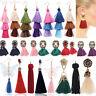 1 Paire Femmes Mode Bohémien Longue Tassel Frange Boho Crochet Boucle d'oreille