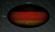 125mm Distressed Oval GERMANY FLAG Sticker/Decal - Printed & Laminated - German