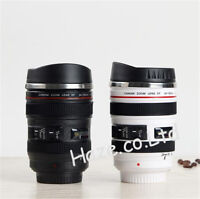 Caniam Camera 24-105mm Lens Shaped Drink Thermos Coffee Cup Mug White/Black