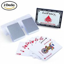 Waterproof Plastic Playing Cards Poker Size 2 Deck of Card Table Christmas Games