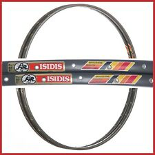"NOS FIR ISIDIS RIMS 28"" 700c 32H VINTAGE TUBULARS 80s ROAD RACING BIKE NEW DARK"