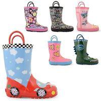 BOYS GIRLS KIDS CHILDREN WELLINGTON BOOTS WELLIES RAINY WINTER BOOTS SHOES SIZE