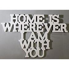 Schriftzug Home is wherever.. aus Holz zum Hängen