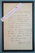 L.A.S Georges JEANNIOT Peintre ami de DEGAS né Plainpalais Suisse Genève lettre