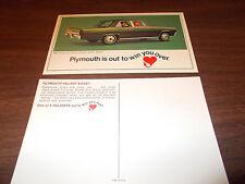 1967 Plymouth Valiant Signet 4-Door Sedan Advertising Postcard