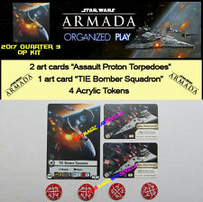 STAR WARS ARMADA 2017 QUART 3 OP KIT - TIE BOMBER + 4 Tokens + 2 Assault Proton