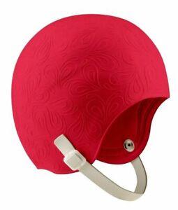 Speedo Adult Latex Aquatic Fitness  Swim Cap with Chin Strap