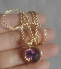 Starburst Czechslovakia necklace pndt Vintage Nos Heliotrope purple Fireball