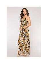 Floral Maxi Dress Chiffon Tank Belted Boho Jumper Summer Dress Medium