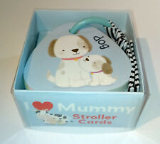 I LOVE MUMMY STROLLER CARDS Pram Buggy Car Seat GAME 8 DBL-SIDE Strap H&L ANIMAL
