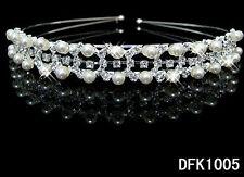 Tiara Diadema pedrería chapado en Plata Cristal Boda Nupcias diadema dfk1005