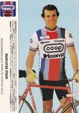 CYCLISME carte cycliste SERGE BEUCHERIE équipe COOP HONVED ROSSIN 1984