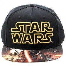 STAR WARS THE FORCE AWAKENS SYMBOL BLACK SNAPBACK CAP WITH PRINTED VISOR