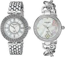 Women's Akribos XXIV AK886SS Silver-tone Mother of Pearl Dials Watch Set