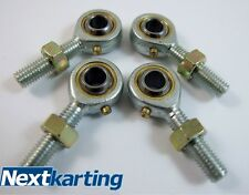 Go Kart Track rod Ends 8mm Male = Rotax TKM 100cc x4 / Tony Kart / X30