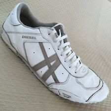 Diesel New Remy Mens Shoes Sz 13 White Leather Casual Sneakers 93243 L