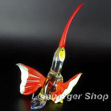 Figurine hummingbird handmade of COLORED GLASS 11cm height NOT PAINTED Ornament