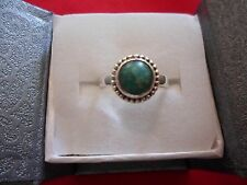Artisan Crafted Russian Amazonite Solitaire Ring in 925 Sterling Silver-Size 7