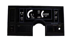 1984-1987 Buick Regal Digital Dash Panel White LED Gauges Lifetime Warranty