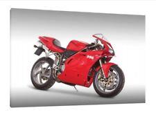 DUCATI 996 30x20 pulgadas lienzo enmarcado cuadro impresión arte cartel Superbike