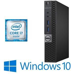 Dell Optiplex 7040 Micro PC Intel Core i7 6700T 16G 128G SSD WiFi HDMI Win10 Pro