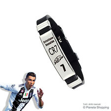 Bracciale ACCIAIO Uomo Cristiano Ronaldo CR7 Autografo Juventus Calcio Serie A