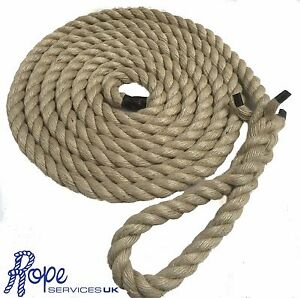 """Natural Gym Climbing Rope, Fitness, Indoor, Tree With 6"""" Soft Eye"""