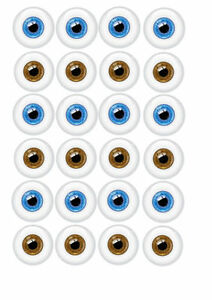 ✿ 24 Edible Rice Paper Cake decorations - Eyes ✿