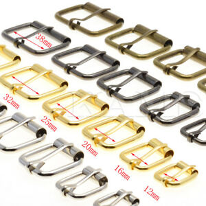 5pcs Wire Formed Half Single Roller Belt Buckles Rectangle Ring Leather Craf