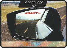 Fiat Abarth logo  autocollant stickers X 2 - couleur au choix