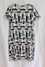 NWT Uniqlo x Marimekko Pompula Black & White DRESS Size US / LARGE