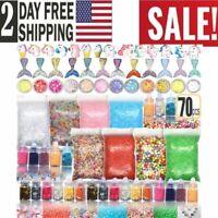 Slime Making Kit Glitter Toys for Girls Unicorn Mermaid Jars 70 Set