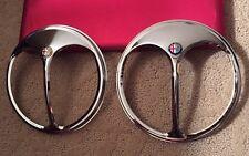 Pair of Alfa Romeo Vintage Automobiles Headlight Parts